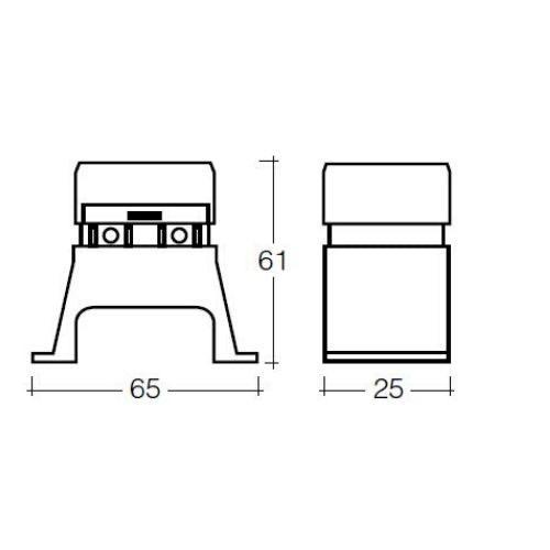 Narva 4-Way Standard ATS Blade Fuse Box (Raised Mount