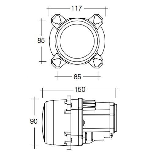 Narva 9-33V L.E.D Low Beam Headlamp Assembly 90mm Dia
