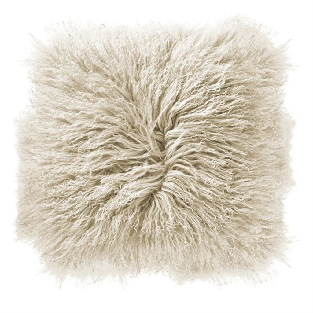 slate 16 mongolian lamb fur pillow