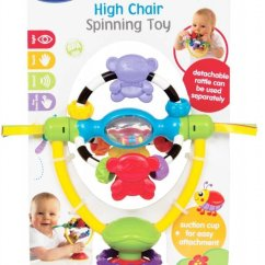 High Chair Suction Toys Portable Folding Floor Chairs Spinning Toy Hello Baby