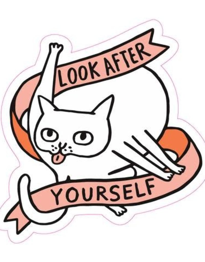 Sticker Look After Yourself Cat | collage - collage
