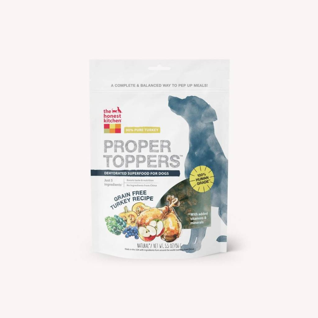 the honest kitchen create your own proper toppers turkey bag of bones barkery