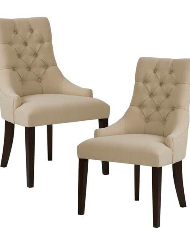 Dining Chair Set Of 2 Corbel Tufted Back Dining Chair Set Of 2