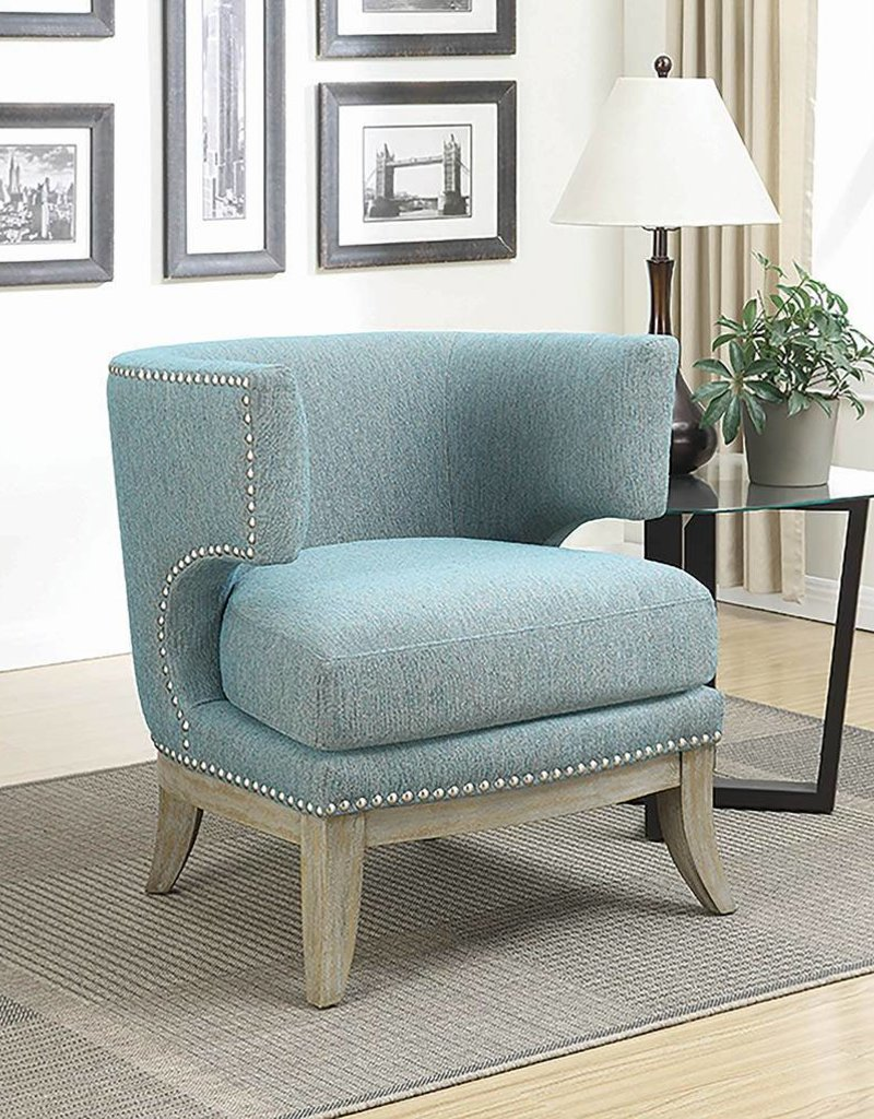 Coaster Accent Chair Coaster Blue Accent Chair