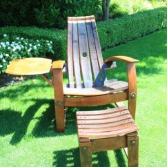 Wine Barrel Chair Fun Chairs For Kids Rooms W Side Table Domain Home Garden Napa Valley