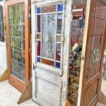 1 Panel 13 Light Pantry Door With Stained Glass Dead People S Stuff Architectural Antiques Design