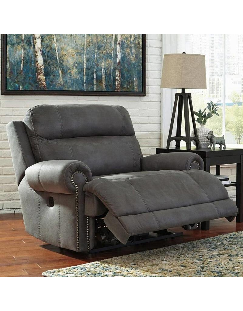 Ashley Furniture Recliner Chairs Austere Power Reclining Chair Grey