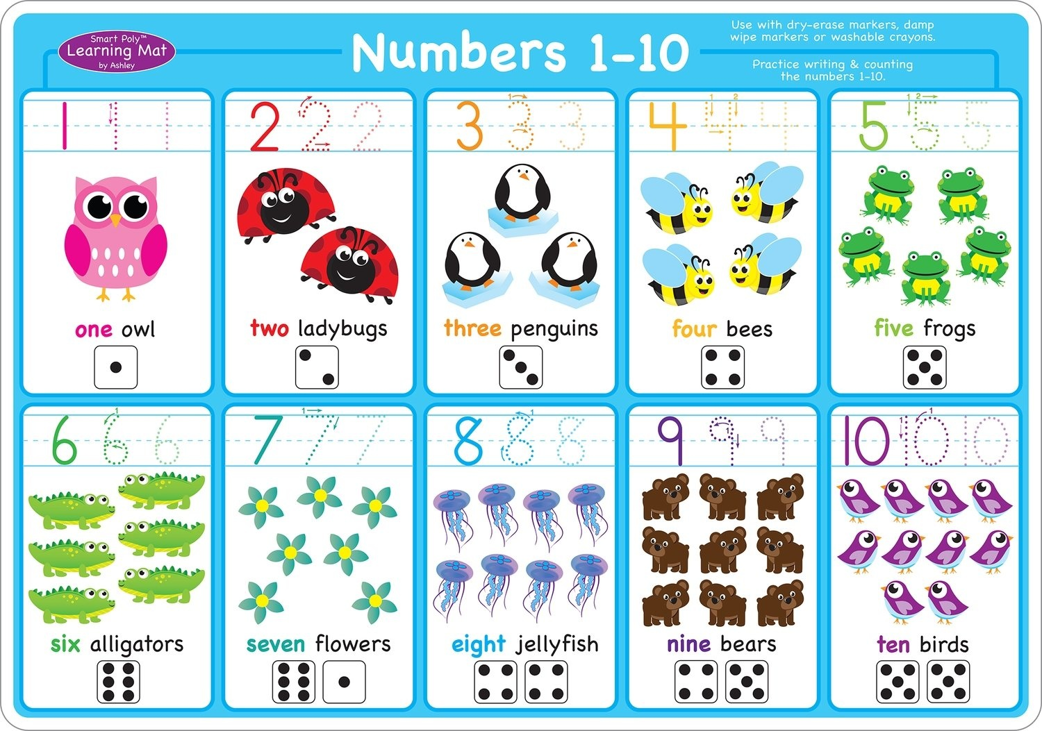 Numbers 1 10 Learning Mat