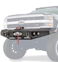 warn warn 95870 ascent front bumper for chevrolet silverado 2500 3500  [ 800 x 1024 Pixel ]