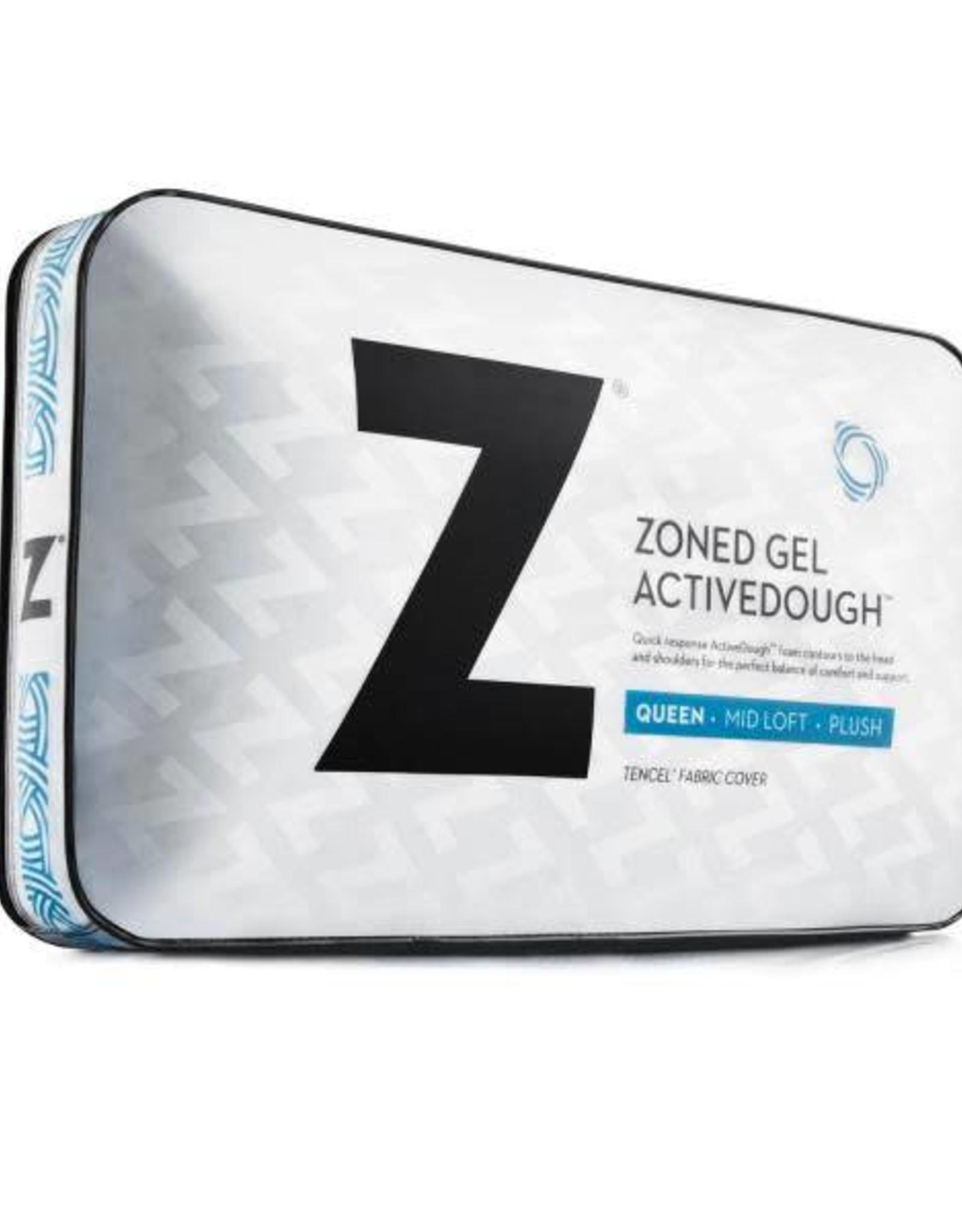 malouf z zoned activedough gel pillow mid loft