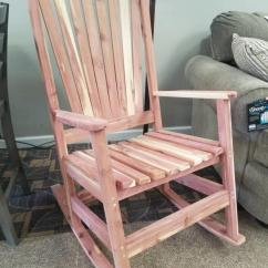 Cedar Rocking Chairs Office Chair Seat Covers Rocker Bargain Box And Bunks