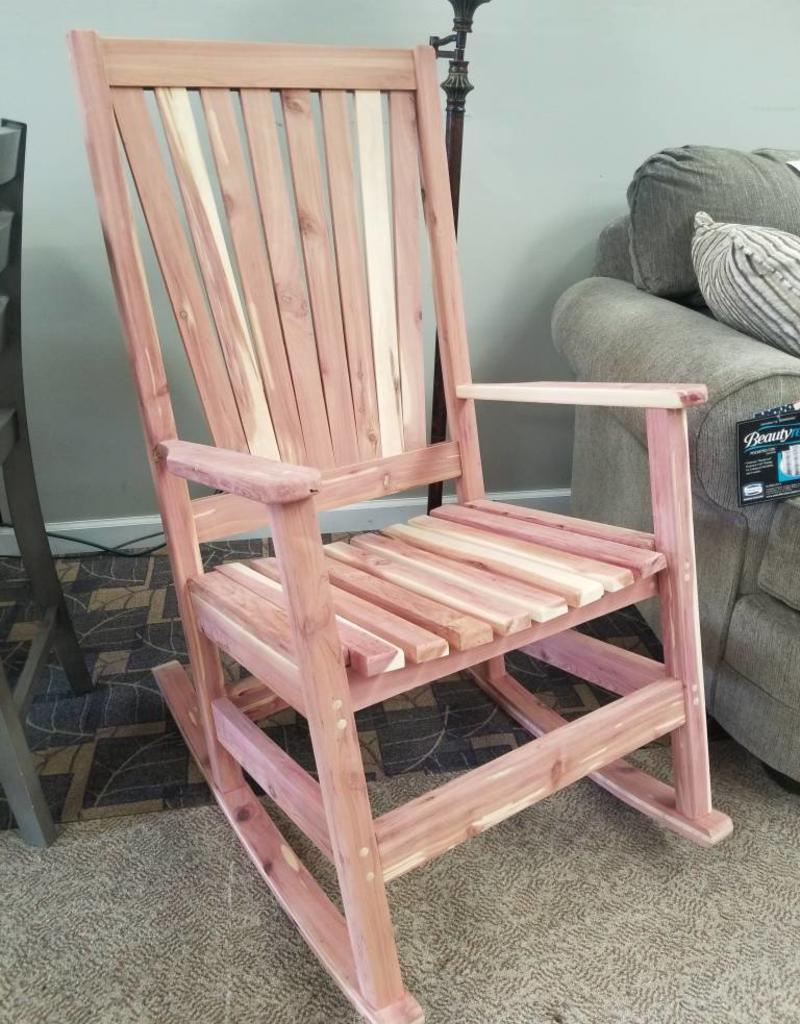 Cheap Rocking Chairs Family Woodworking Rocker Cedar Rocking Chair