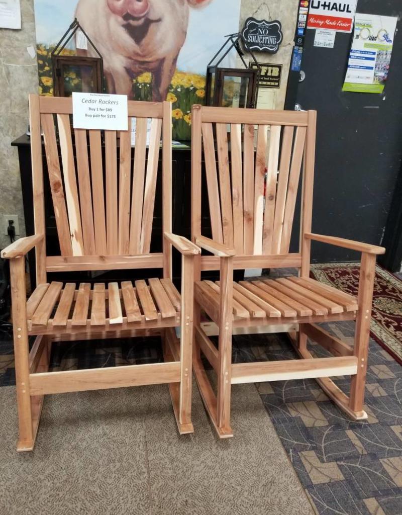 rocking chair rockers swivel dining set pair of cedar bargain box and bunks
