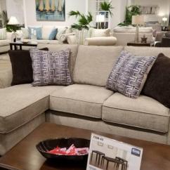 Sofa W Chaise Rachlin Lisa Provence Alamo Taupe Chofa 4330 Bargain Box And Bunks