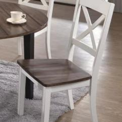 Cross Back Dining Chairs White Stadium Chair For Bleachers A La Carte Bargain Box And Bunks Farmhouse