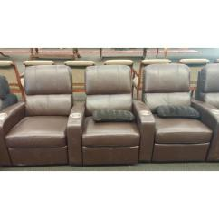 Theater Chairs With Cup Holders Shiatsu Massage Chair Movie Brown Leather 2059 Antiques