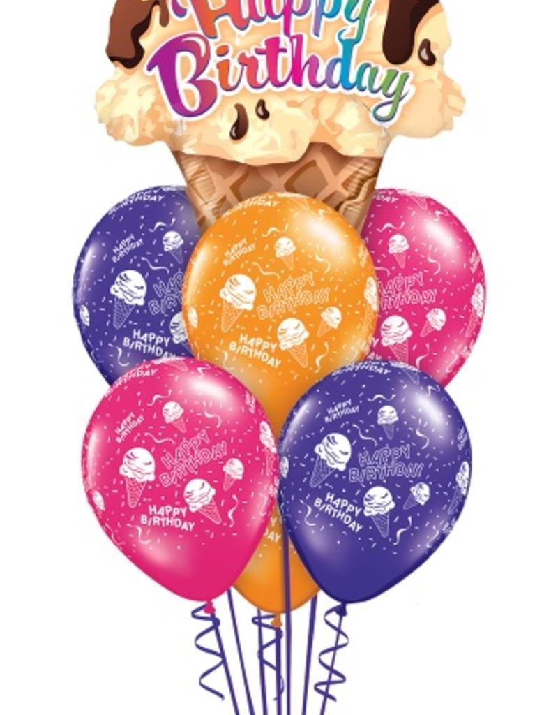 qualatex happy birthday ice