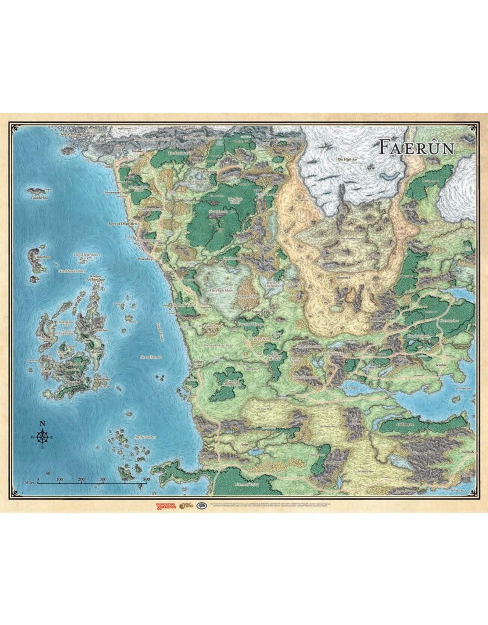 Faer�n Map : faer�n, Force, SWORD, COAST, ADVENTURE'S, GUIDE, FAERUN