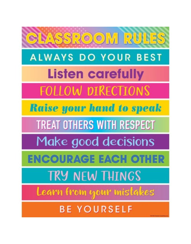 colorful vibes classroom rules