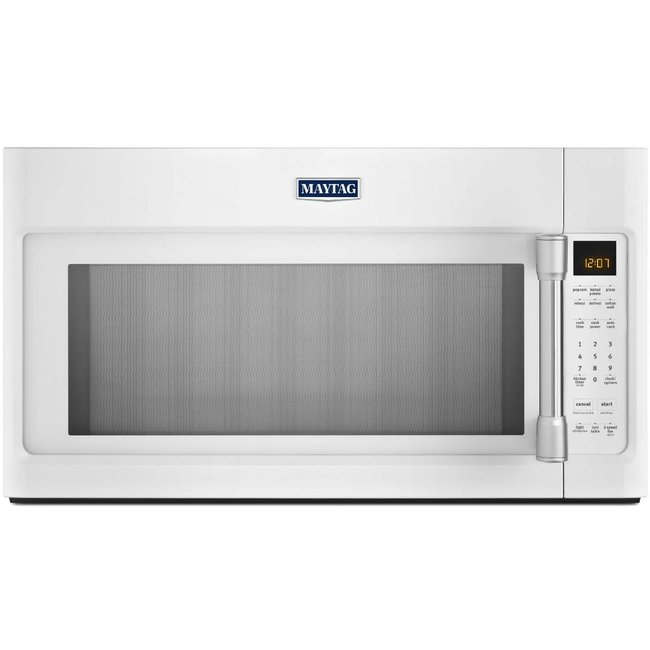 whirlpool maytag 2 0 cu ft over the range microwave oven with 1000 watts 400 cfm