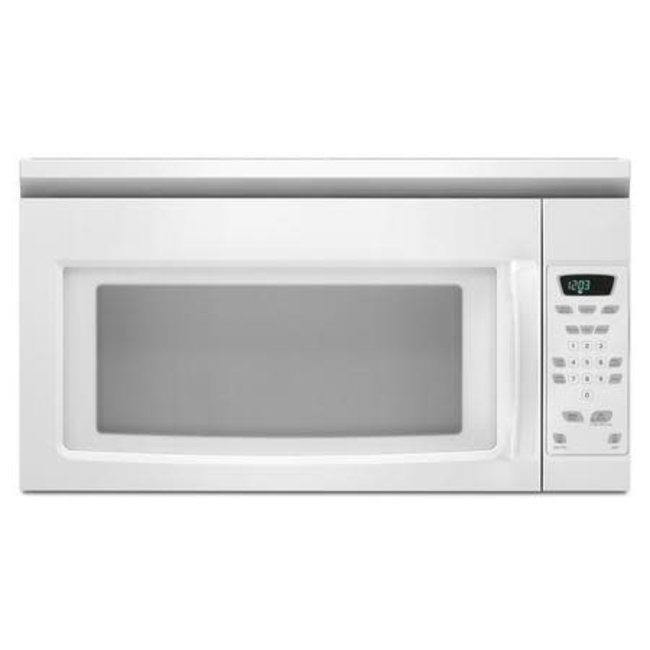 whirlpool amana 1 5 cu ft over the range microwave white amv1150vaw