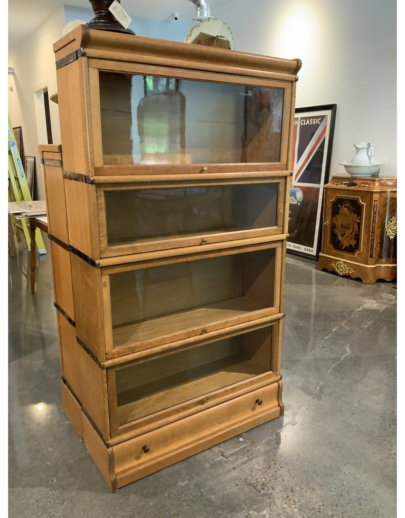 Spv Vintage Four Tier With Bottom Drawer Globe Wernicke Co Lawyers Barrister Bookcase
