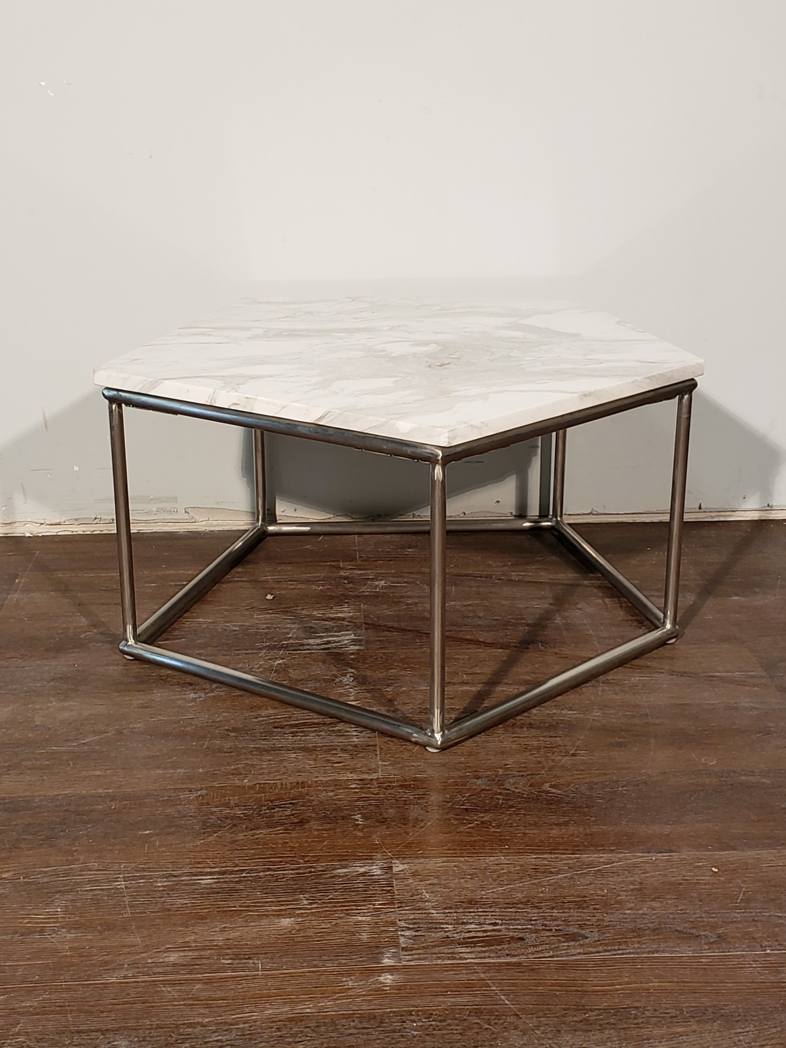 pentagon stone top coffee table