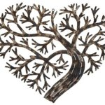 Metal Heart Shaped Tree Wall Decor