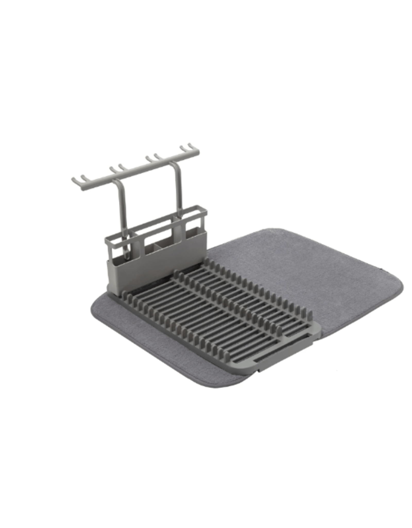 umbra udry dish drying mat and glass rack charcoal