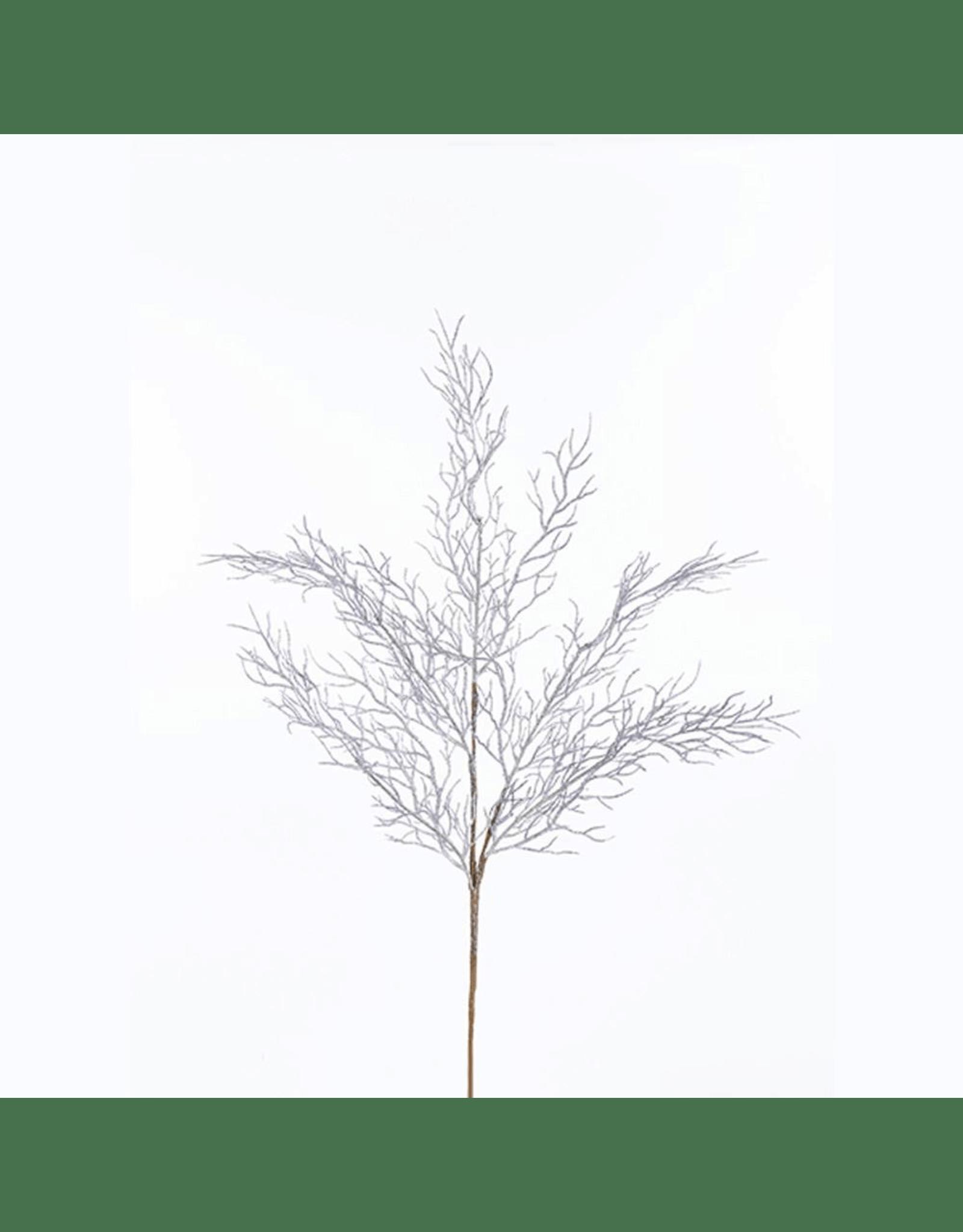 Kurt Adler Dark Silver Coral Spray 24 Inch Christmas