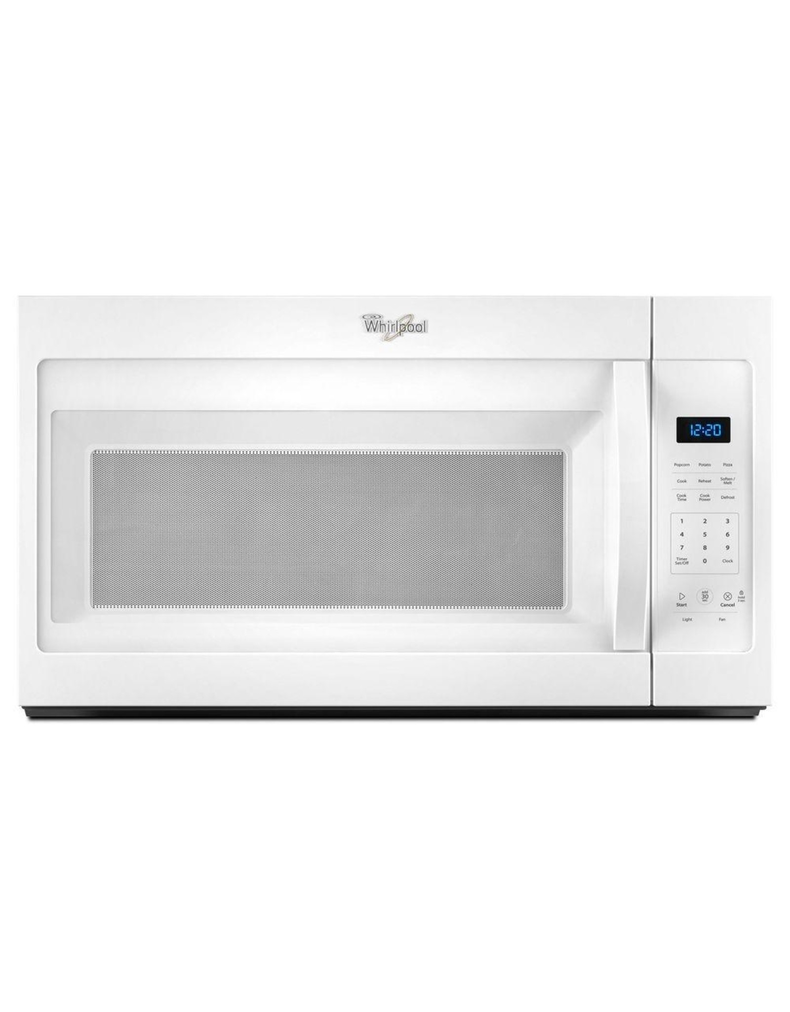 whirlpool wmh31017fw whr microwave hood combination 1 7 cu ft 1000 watts 2 piece front st