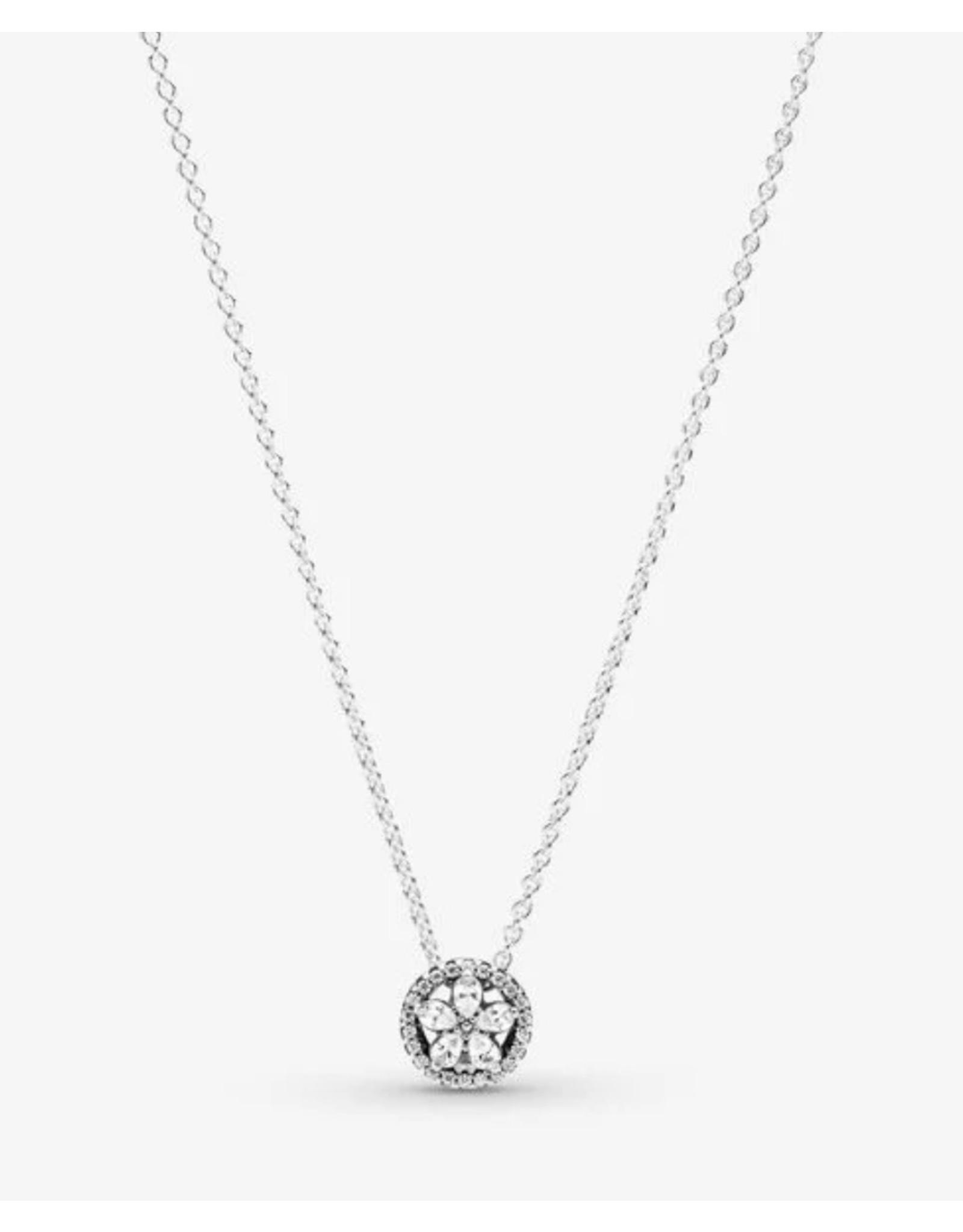 Pandora Necklace For Men : pandora, necklace, Pandora, Necklace,399230C01-45,, Sparkling, Snowflake,, Clear, Monde