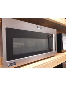 maytag maytag mmv5227jz 1 9 cu ft over the range microwave with dual crisp function in fingerprint resistant stainless steel