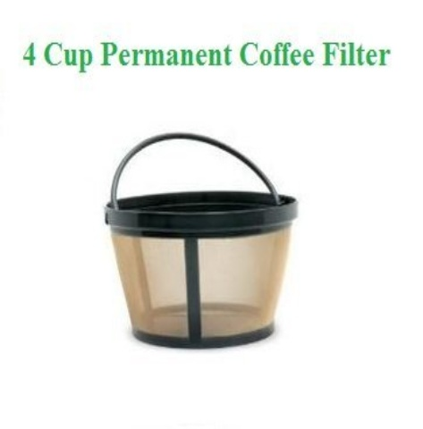 1 X 4Cup Basket Style Permanent Coffee Filter fits Mr