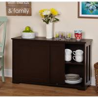 Sliding Wood Doors Stackable Storage Cabinet, Multiple ...