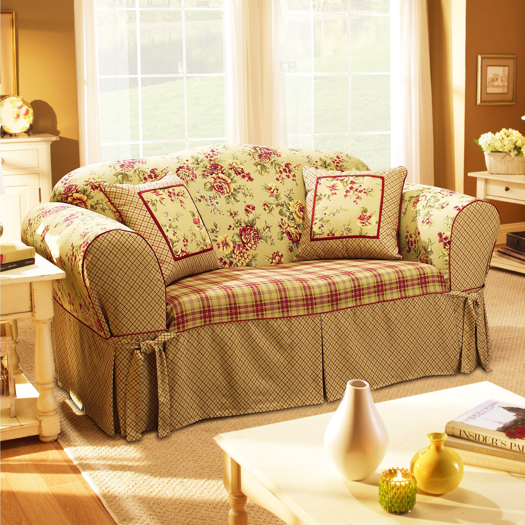 multi color sofa slipcovers ethan allen queen sleeper sure fit lexington slipcover  thesofa
