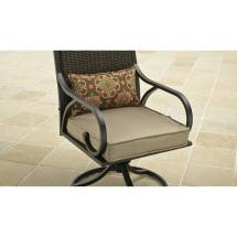 3 Piece Bistro Set Swivel Rocker Chairs With Cushions