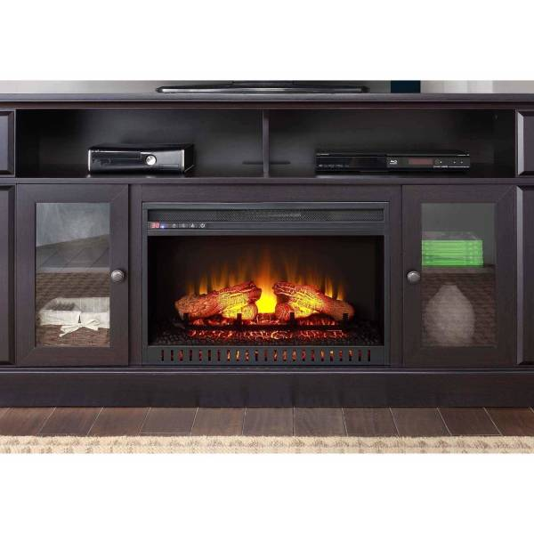 Whalen Espresso Fireplace TV Stand 70 Inches
