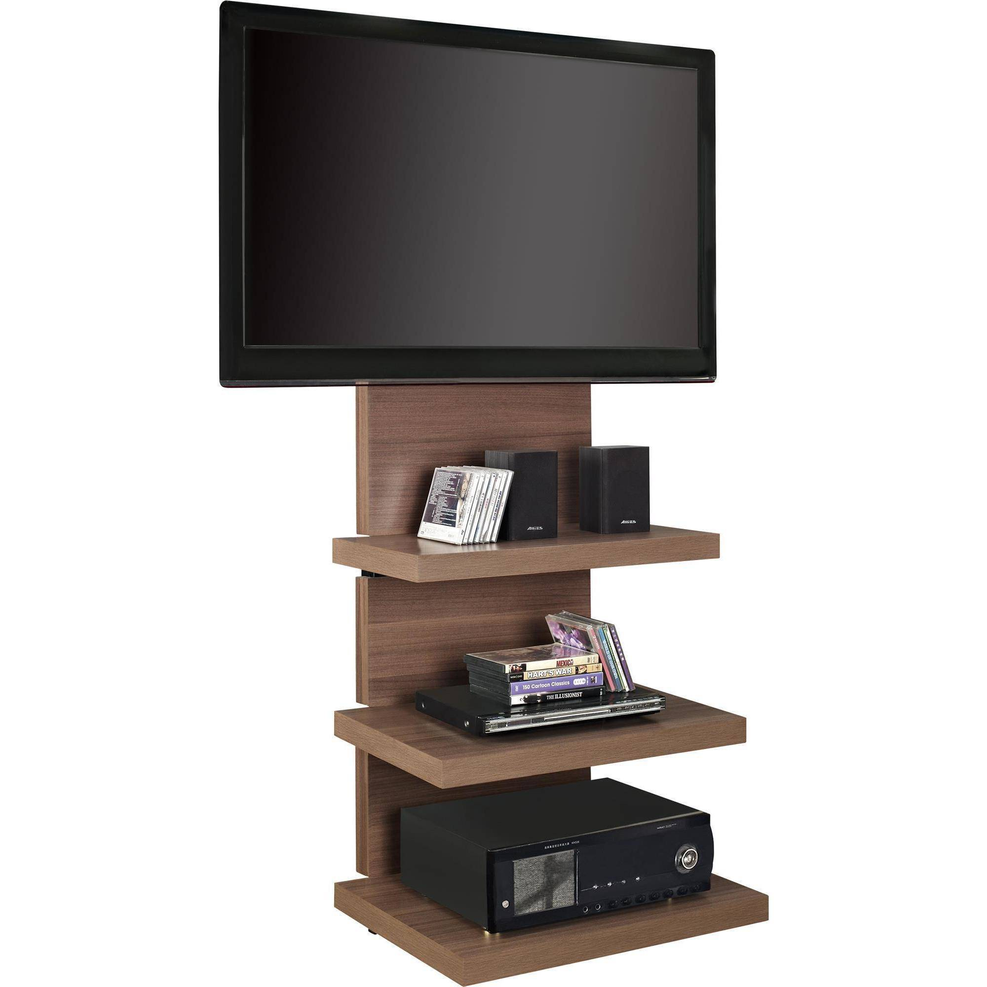 Altra Wall Mount TV Stand with 3 Shelves for TVs up to 60  eBay