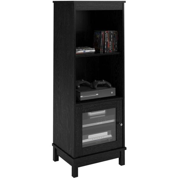 Storage and Entertainment Center with Sliding Doors
