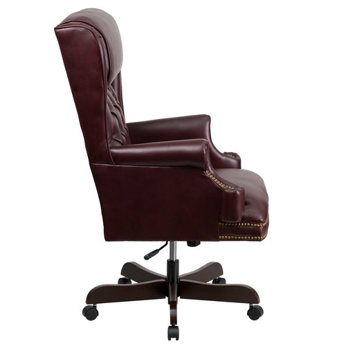 tufted leather executive office chair Flash Furniture High Back Traditional Tufted Leather Executive Swivel Office Ch | eBay