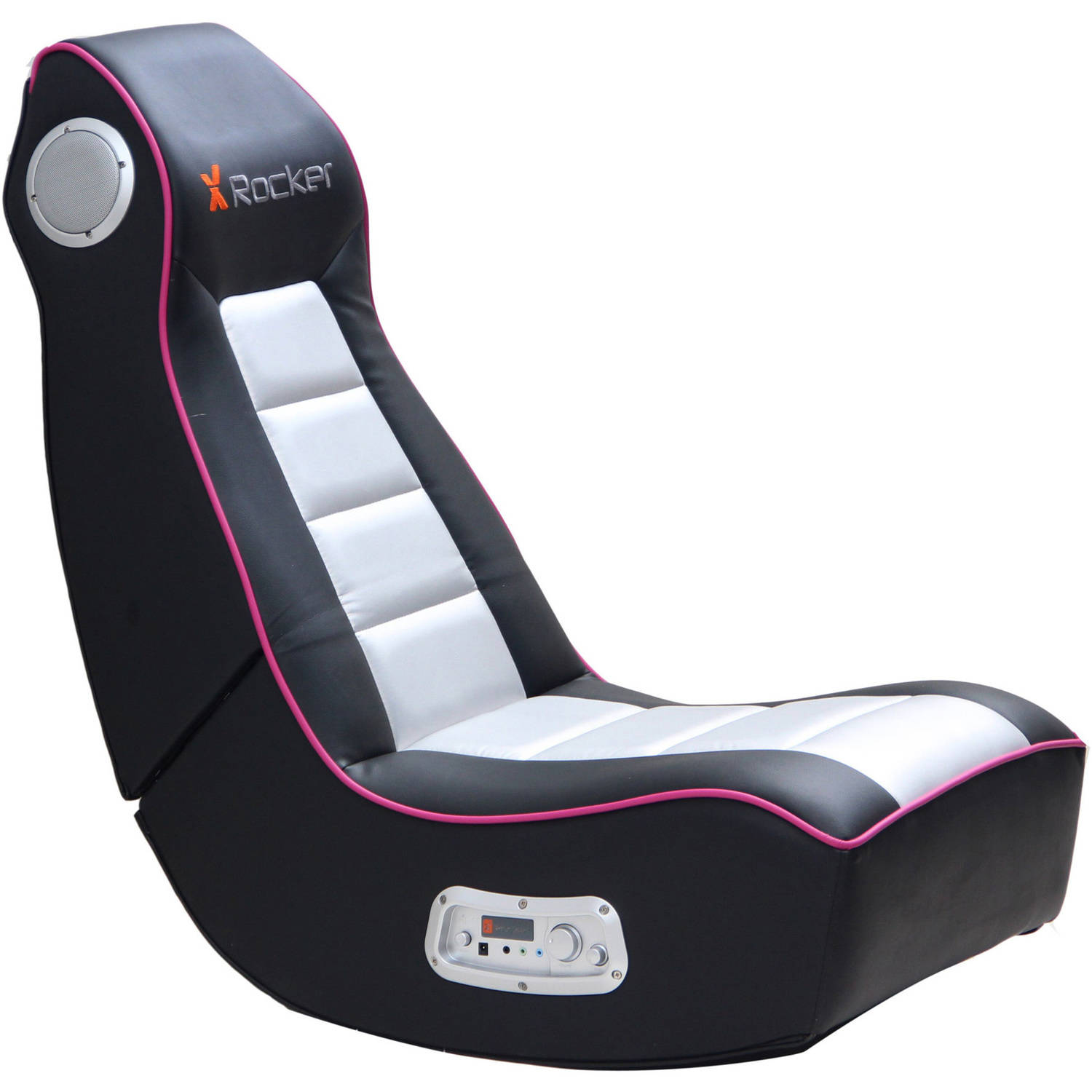Game Chair Rocker X Rocker 2 1 Wired Audio Gaming Chair Black Pink Ebay