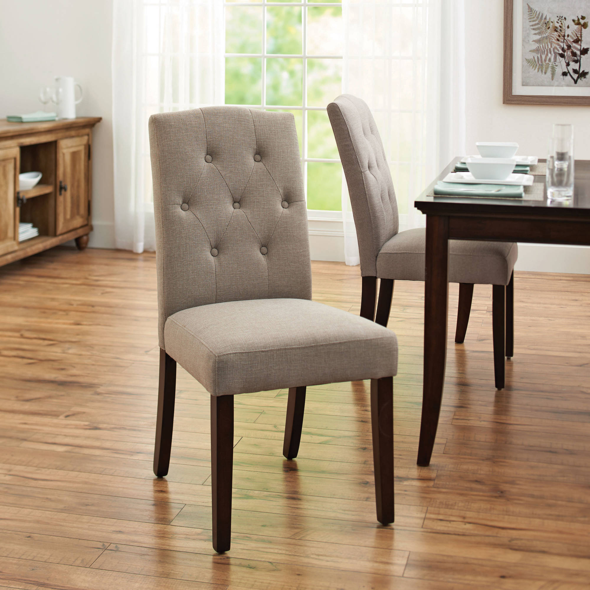 tufted dining room chairs sleeper chair better homes and gardens parsons taupe ebay details about