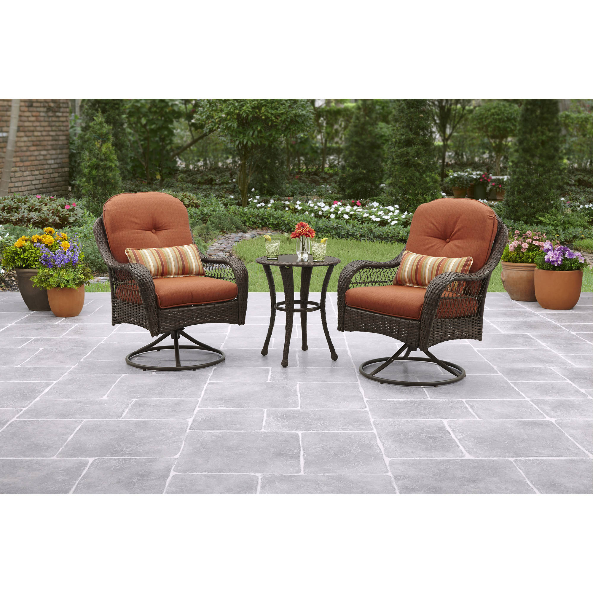 wicker patio chair set of 2 fishing clearance better homes and gardens azalea ridge 3 piece outdoor bistro details about seats