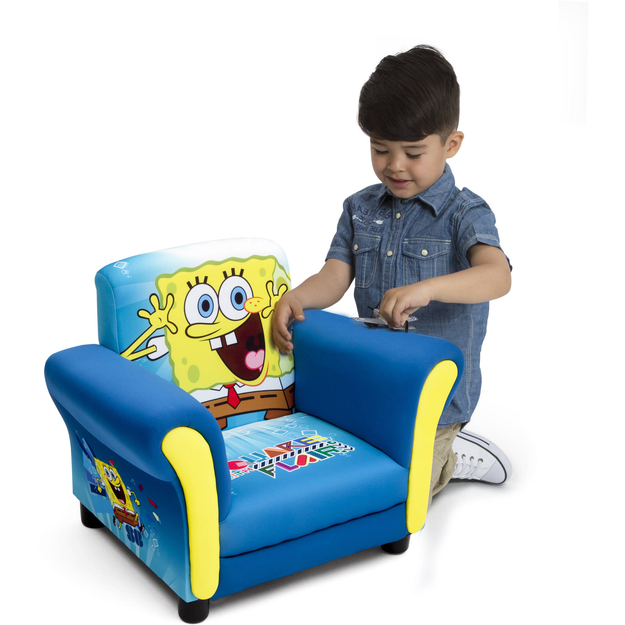 Delta Children Chair Details About Spongebob Squarepants Kids Upholstered Chair By Delta Children