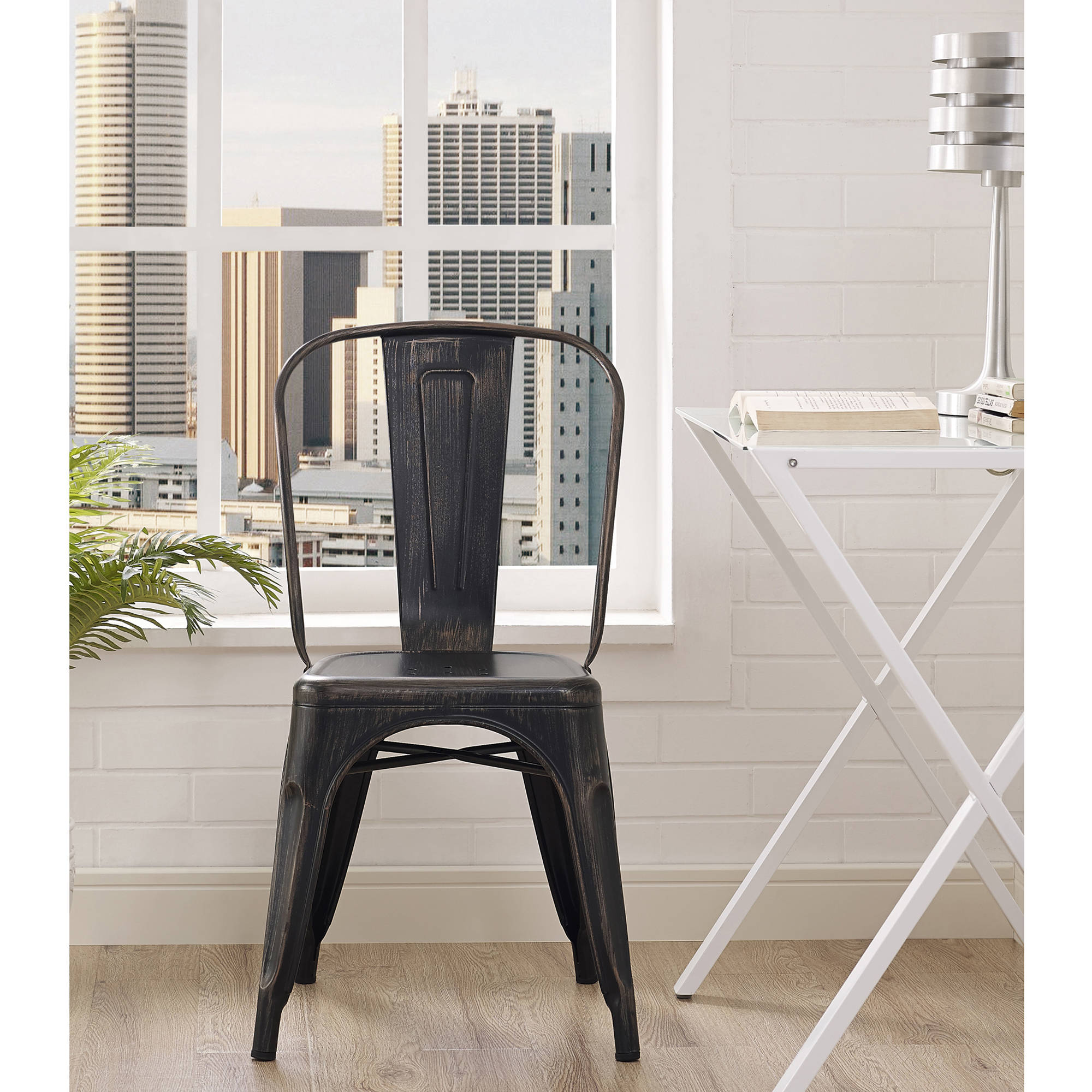 metal bistro chairs pittsburgh steelers chair antiqued stack able assorted colors ebay details about