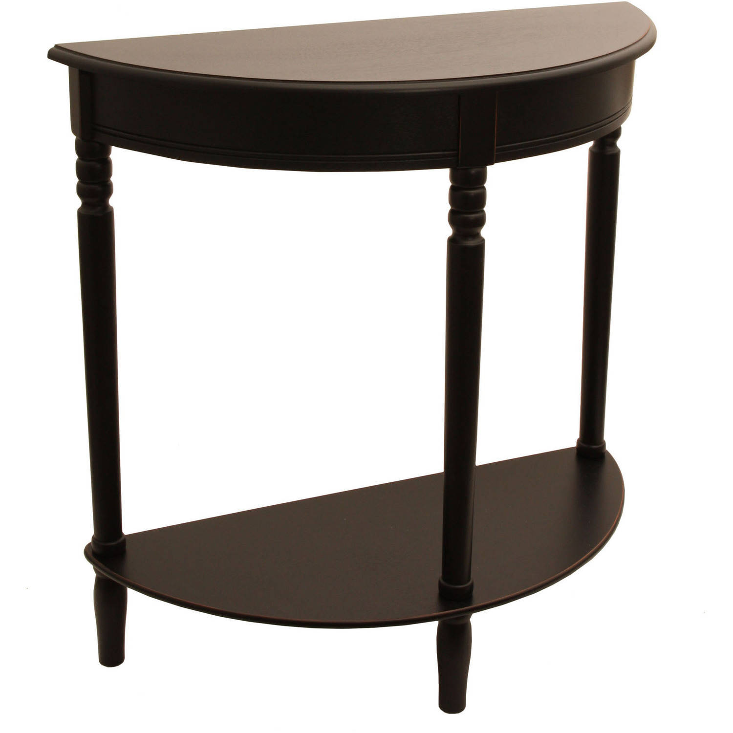 semi circle sofa for bay window replacement cushions feather half round console table multiple finishes ebay