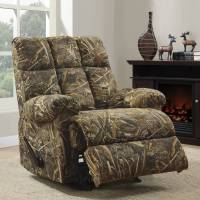 Rocker Recliner Chair Rustic Camouflage Man Cave Cabin ...