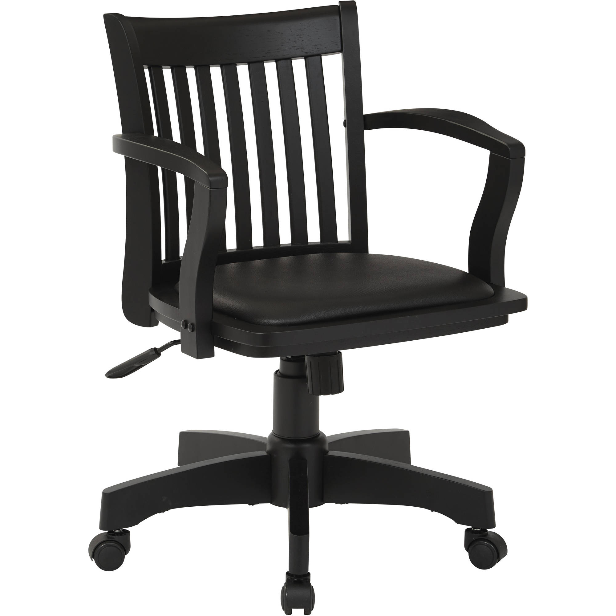 Wood Bankers Chair Office Star Products Deluxe Wood Banker 39s Chair With Arms