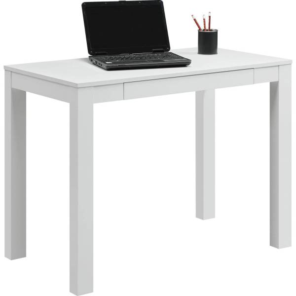Mainstays Furniture Parsons Desk With Drawer White